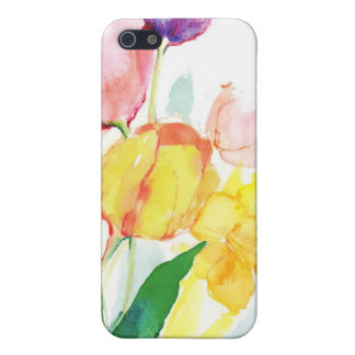 floral water color tulips cover for iPhone SE/5/5s