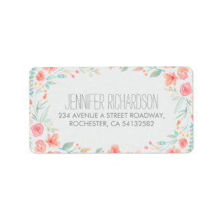 Floral Watercolor Address Labels