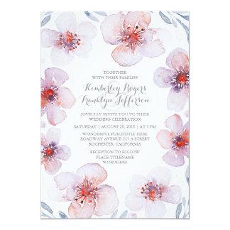 Floral Watercolor -Botanical Garden Modern Wedding Card