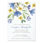 Floral Watercolor | Bridal Shower 5x7 Paper Invitation Card