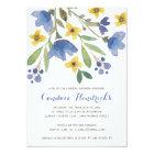 Floral Watercolor   Bridal Shower Card