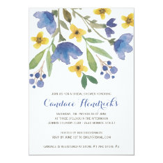 Floral Watercolor | Bridal Shower Card at Zazzle