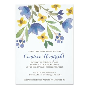 dulceevents Floral Watercolor | Bridal Shower Card