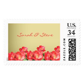 Floral Watercolor Bridal Shower Postage Stamp
