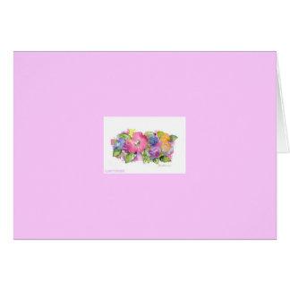 """Floral watercolor by artist Jan Turner Card"