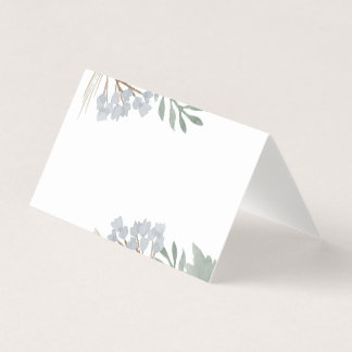 Floral Watercolor Custom Place Cards