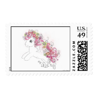 Floral Watercolor Design Postage Stamp