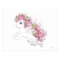 Floral Watercolor Design Postcard