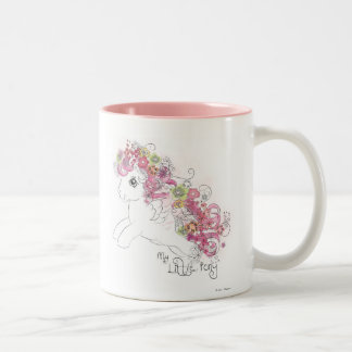 Floral Watercolor Design Two-Tone Coffee Mug