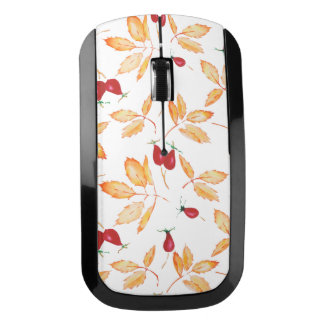 Floral Watercolor, Dog-rose Wireless Mouse