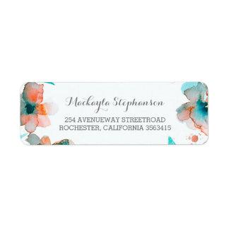 Floral Watercolor Elegant Wedding Label