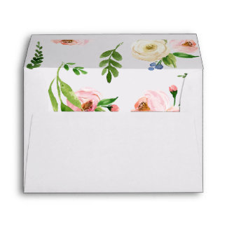 FLORAL WATERCOLOR ENVELOPE