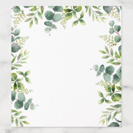 Floral Watercolor Envelope Liner