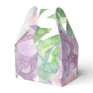 Floral Watercolor Favor Box