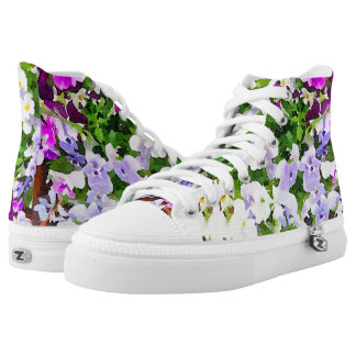 Floral Watercolor High-tops