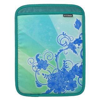 Floral Watercolor Ink Rickshaw iPad Sleeve