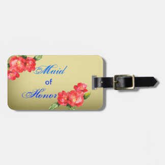 Floral Watercolor Maid ofHonor Wedding Luggage Tag