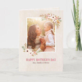 Floral Watercolor Mother's Day Card
