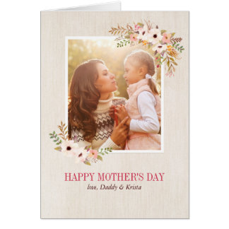 Floral Watercolor Mother's Day Card Greeting Card