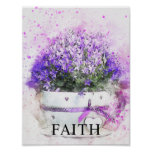 Floral Watercolor Office Decor Matte Poster