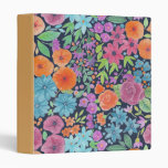 Floral watercolor pattern 3 ring binder