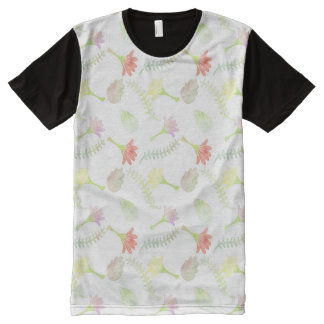 Floral Watercolor Pattern All-Over-Print Shirt
