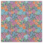 Floral watercolor pattern fabric