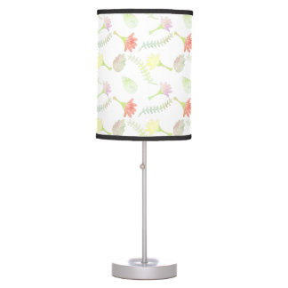 Floral Watercolor Pattern Table Lamp