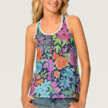 Floral watercolor pattern tank top