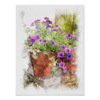 Floral Watercolor Poster Print