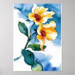Floral watercolor print