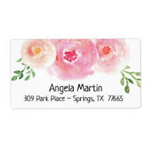 Floral Watercolor Return Address Label