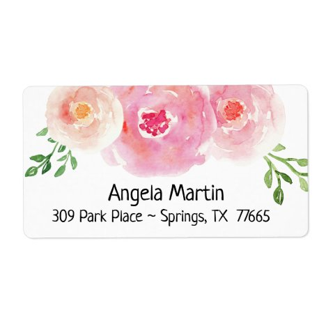 Floral Watercolor Return Address Label