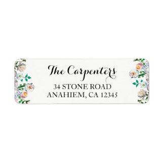Floral Watercolor Return Address Mailing Labels
