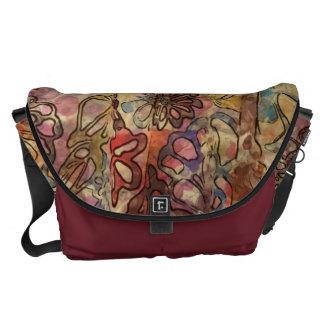 Floral Watercolor Rickshaw Messanger Bag Messenger Bag