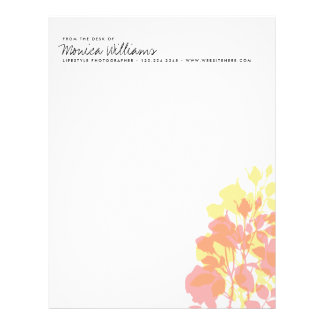 Floral Watercolor Spring Stationery