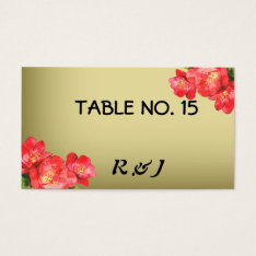Floral Watercolor Table Number Cards For Guests at Zazzle
