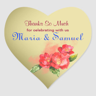 Floral Watercolor Thank You Favor Label Stickers