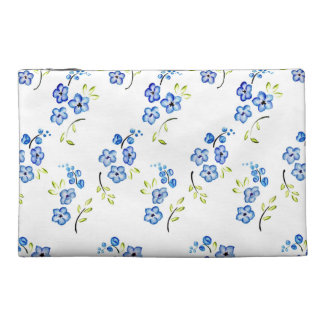 Floral Watercolor Travel Accessories Bags