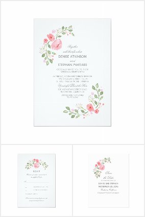 Floral Watercolor Wedding Collection