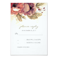 Floral Watercolor Wedding RSVP Cards