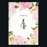 """Floral Watercolor Wedding Table Number Cards<br><div class=""""desc"""">Blush Pink Romantic Watercolor Floral Painting Design Personalized Wedding Table Number Cards. Matching Wedding Invitations,  Bridal Shower Invitations,  Save the Date Cards,  Wedding Postage Stamps,  Bridesmaid To Be Request Cards,  Thank You Cards and other Wedding Stationery and Wedding Gift Products available in the Floral Design Category of our Store.</div>"""
