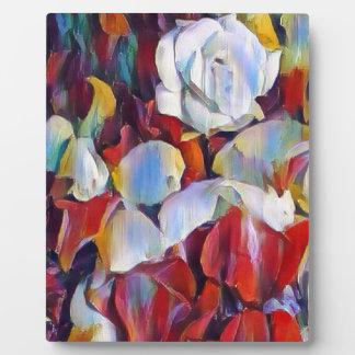 Floral watercolour arrangement plaque
