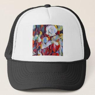 Floral watercolour arrangement trucker hat