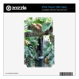 Floral Waterfall iPod Touch 4G Decal