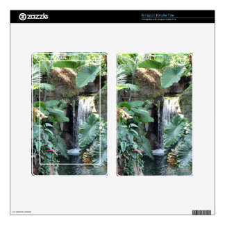 Floral Waterfall Kindle Fire Skins