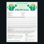 """Floral Watering Can Proposal Form Letterhead<br><div class=""""desc"""">Deluxeforms features floral watering can proposal form on letterhead size. Great as a logo for business owners or anyone. Customize it to make it your own. Available in other sizes and/or styles. Find other great business products on my Deluxeforms* Zazzle Store(www.deluxecontractorforms.com/deluxeforms.html or www.zazzle.com/deluxeforms*). **IMAGE ARTWORK/PHOTO COPYRIGHTS** This image artwork and/or...</div>"""