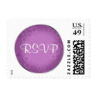 Floral Watermark Amethyst RSVP Postage
