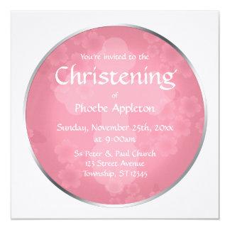 Floral Watermark Roseate Christening Invitations