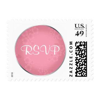 Floral Watermark Roseate RSVP Postage